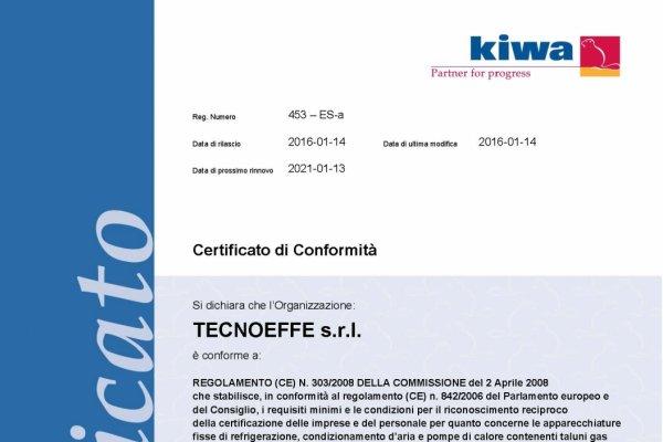 Certificato Fgas