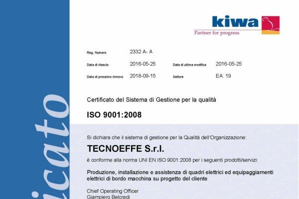 Certificato ISO9001:2008